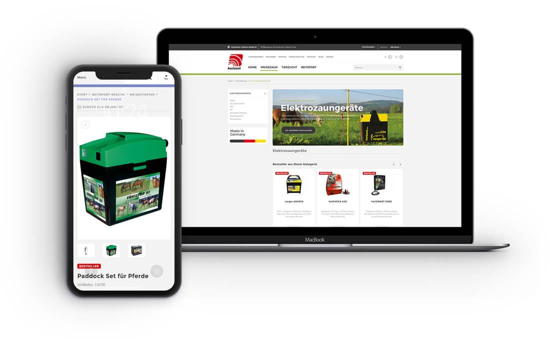Macbook und Smartphone Horizont