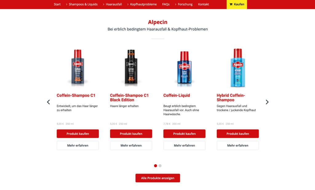 dr.wolff screenshot alpecin produktdetails