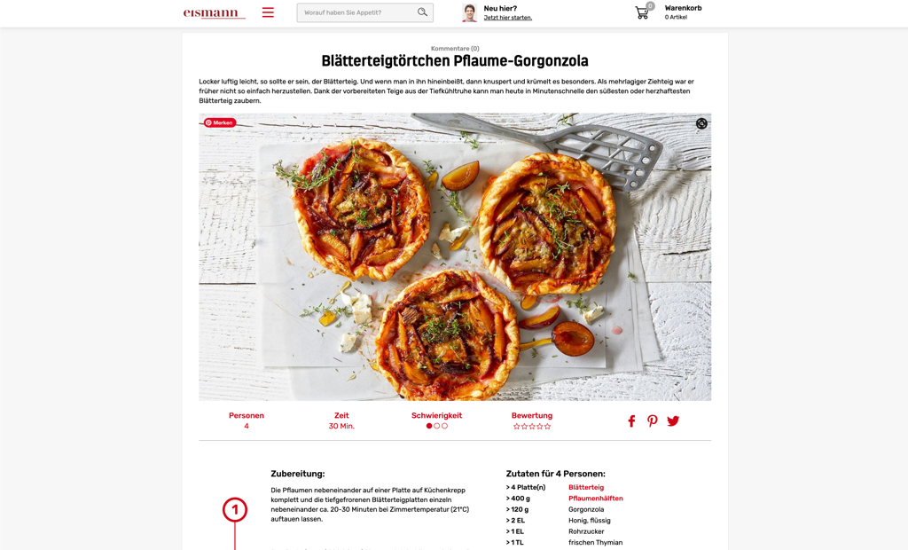 eismann screenshot rezept