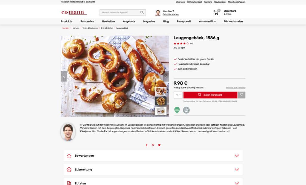 eismann screenshot produktdetail