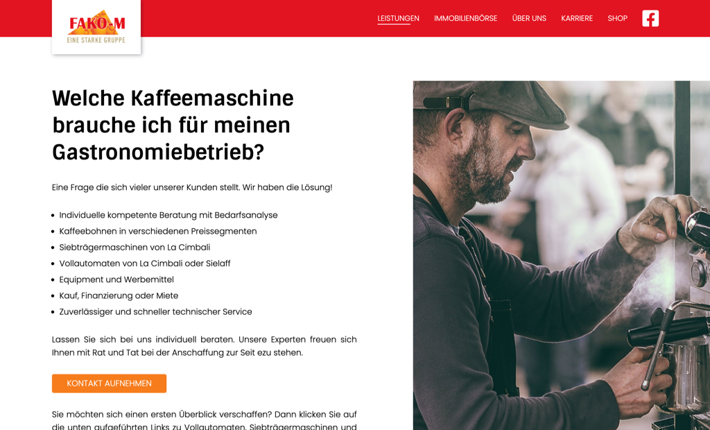 fako m screenshot kaffeemaschine