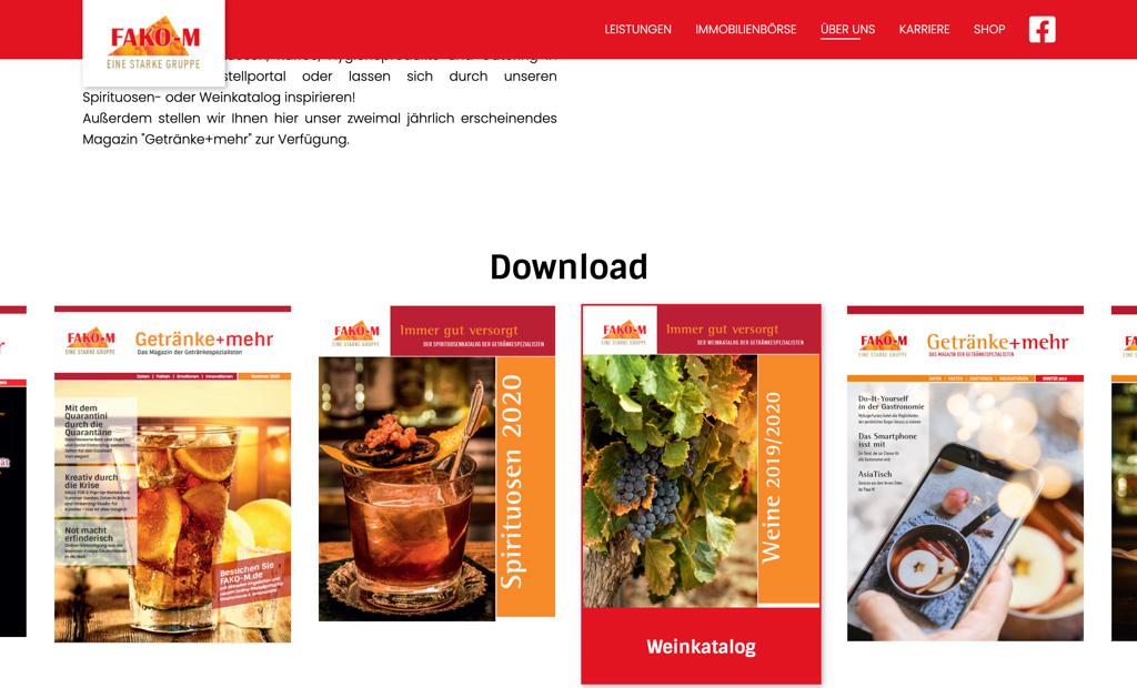 fako m screenshot downloadbereich