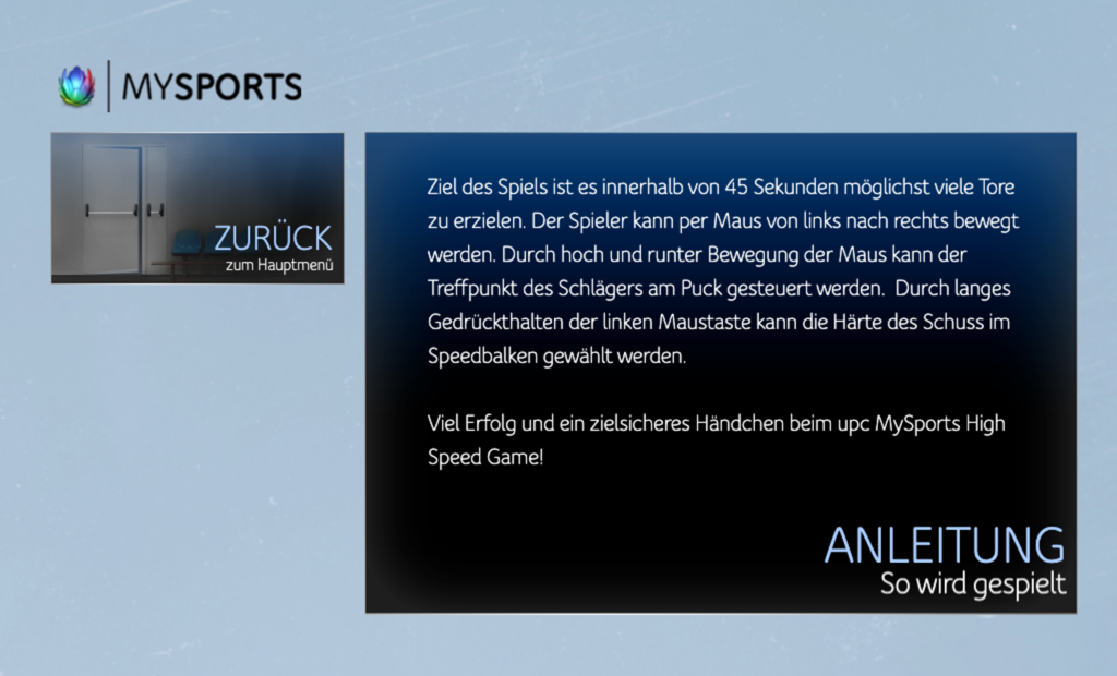 Screenshot upc hockey anleitung